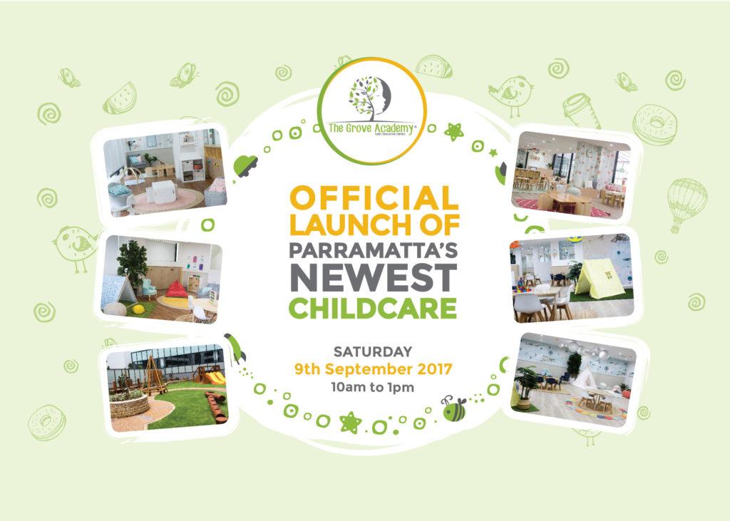 Parramatta Childcare Centre Official Launch Flyer