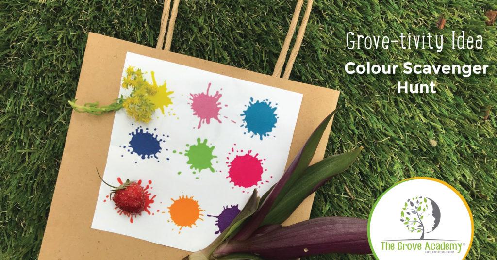 Outdoor Kids Activities - Colour Scavenger Hunt