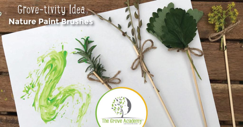 Outdoor Kids Activities - Nature Paint Brushes