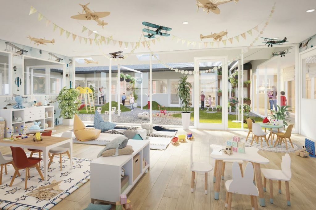 Indoor impression of new Bexley Childcare
